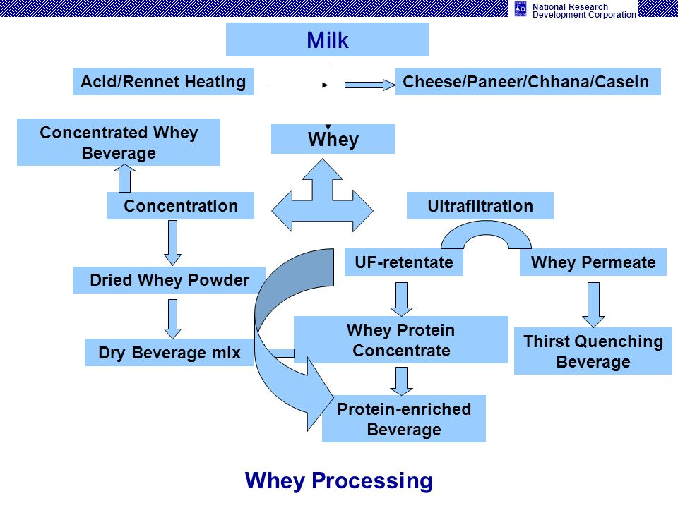 Milk Whey Processing Whey Acid/Rennet Heating