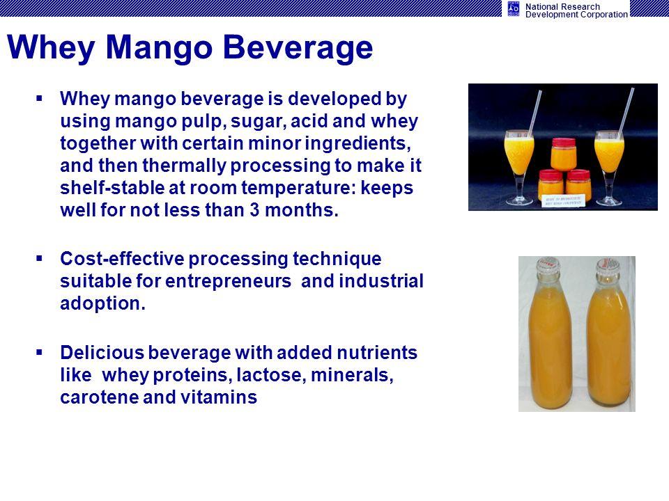 Whey Mango Beverage