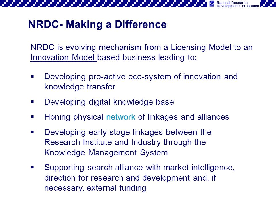 NRDC- Making a Difference