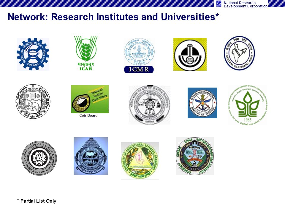 Network: Research Institutes and Universities*