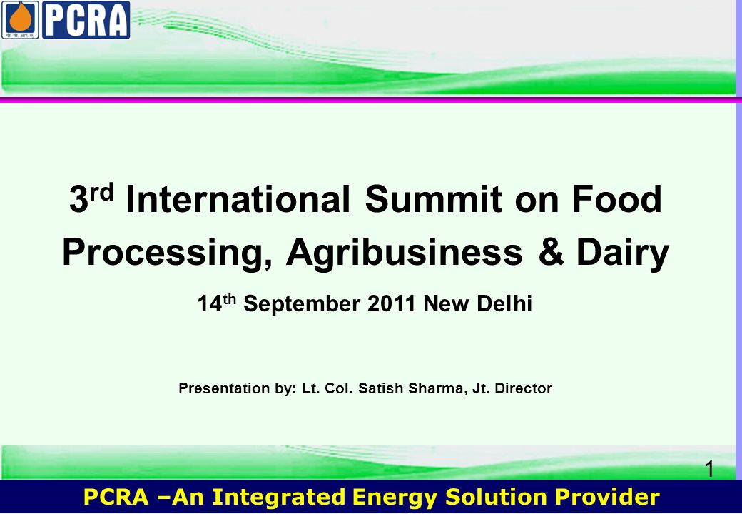 3rd International Summit on Food Processing, Agribusiness & Dairy