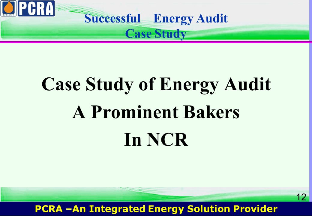 Successful Energy Audit Case Study
