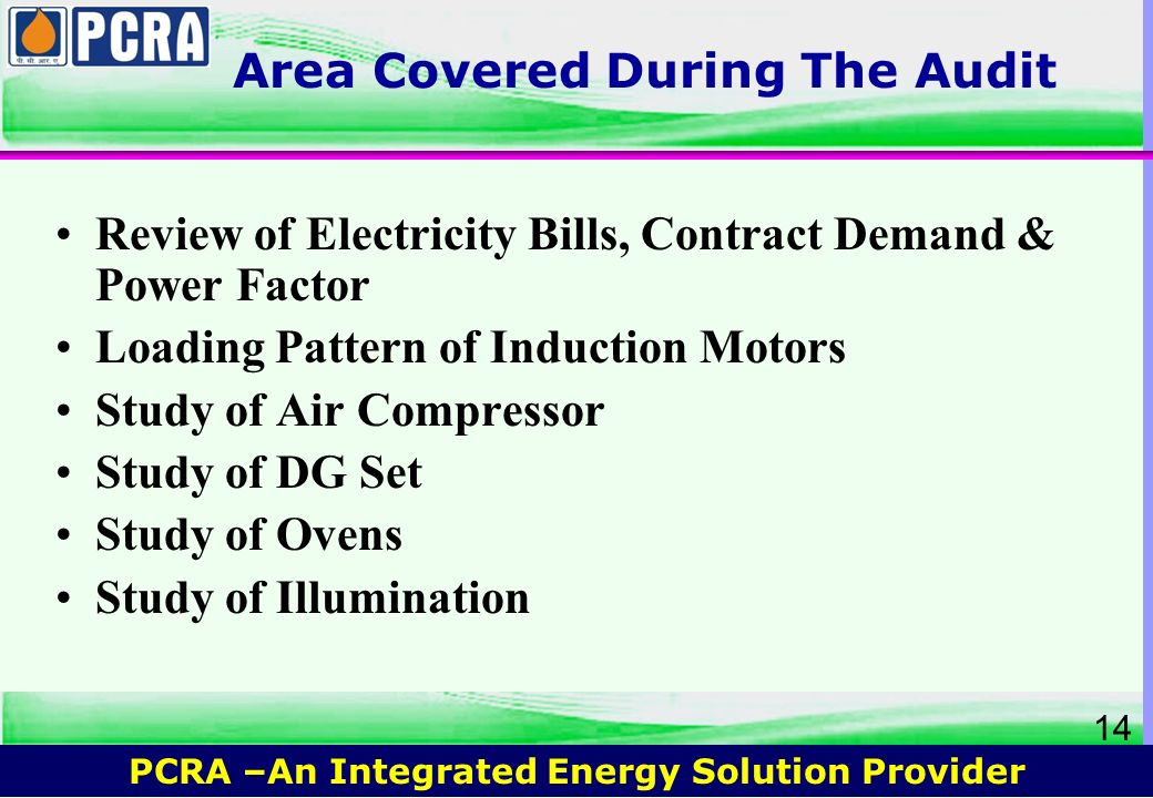 Area Covered During The Audit