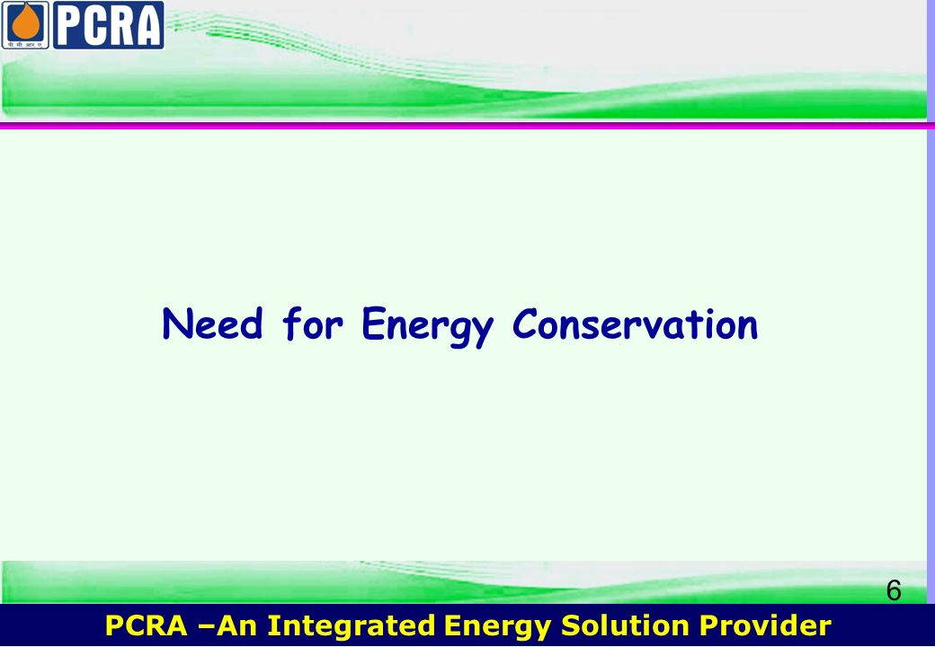 Need for Energy Conservation