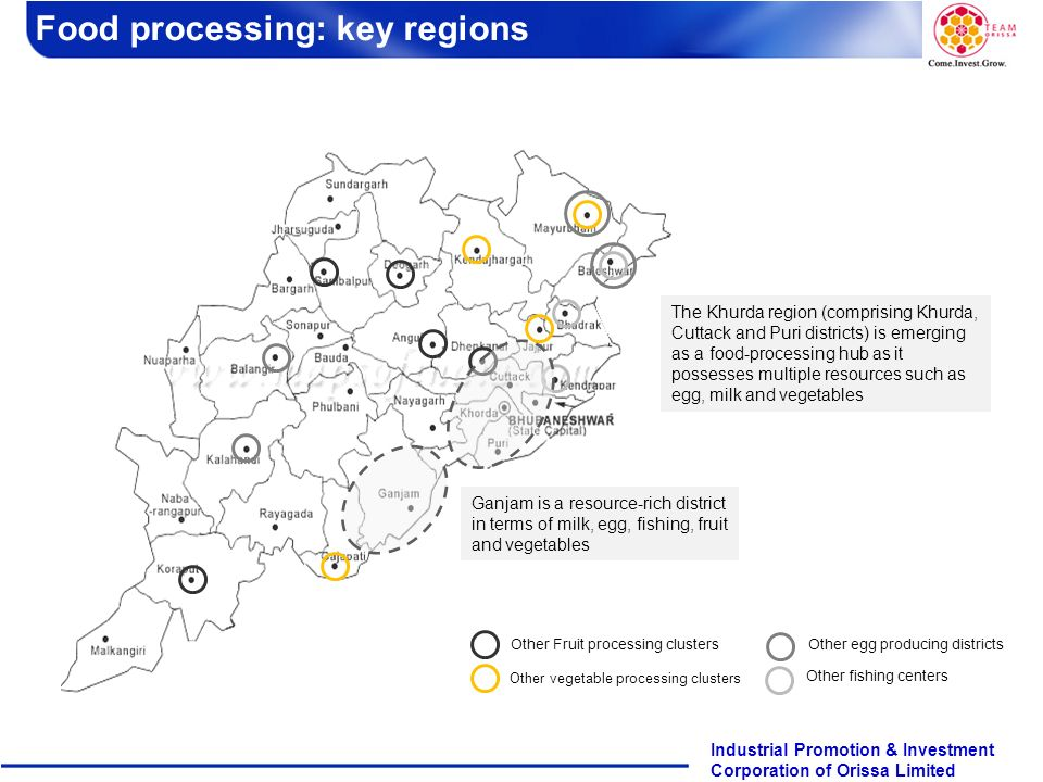 Food processing: key regions