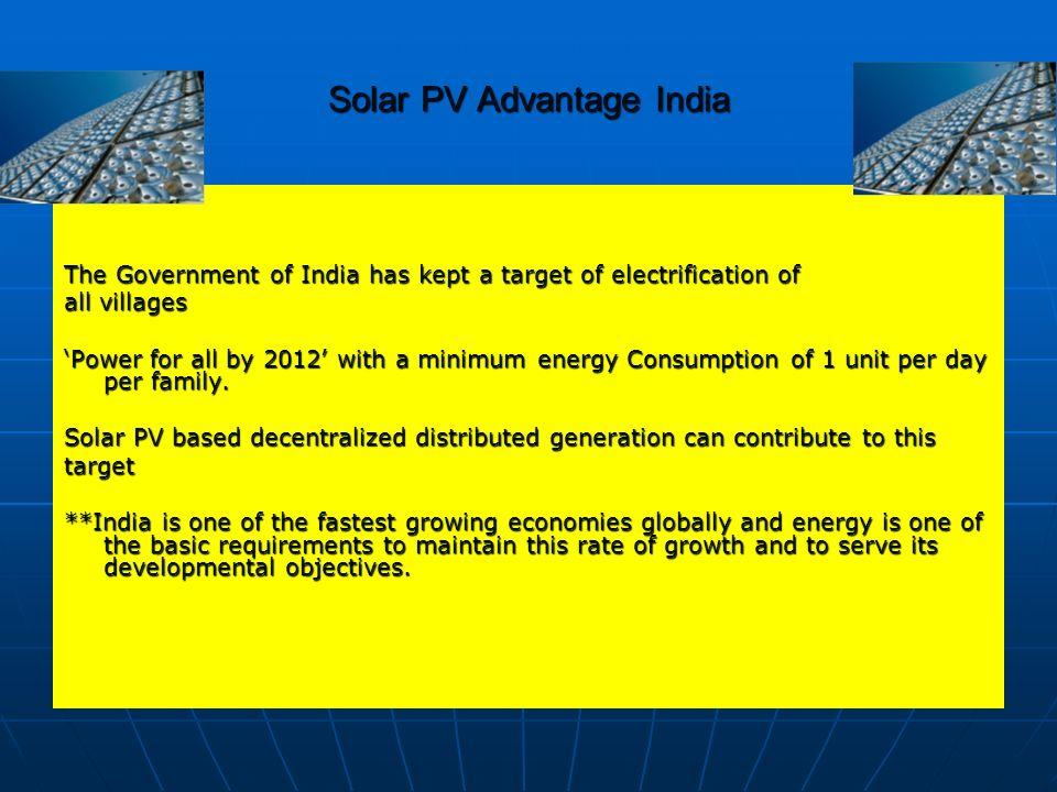 Solar PV Advantage India