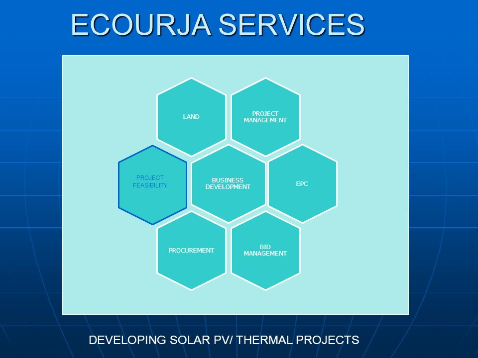 ECOURJA SERVICES DEVELOPING SOLAR PV/ THERMAL PROJECTS