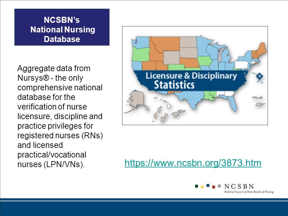 NCSBN's National Nursing Database