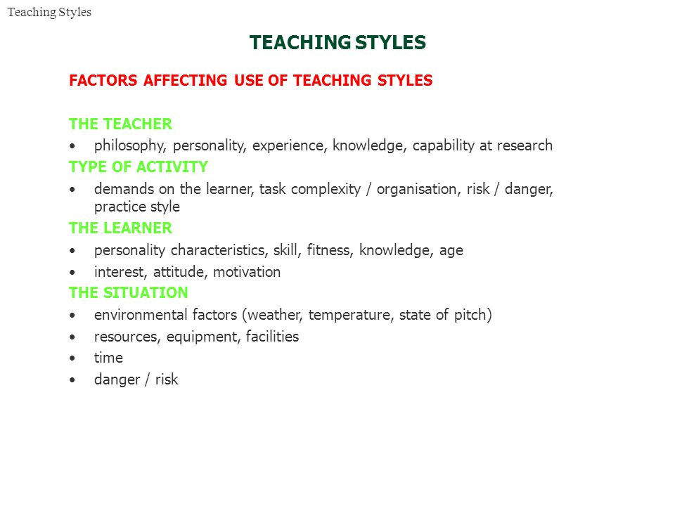 the factors affecting teacher motivation The four factors of motivation  the basics: which factors affect motivation let's begin with the four factors that are the basics of motivating anyone, in any .