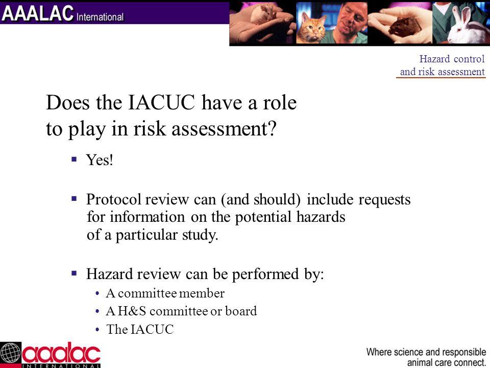 Does the IACUC have a role to play in risk assessment