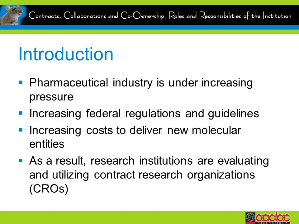 Introduction Pharmaceutical industry is under increasing pressure