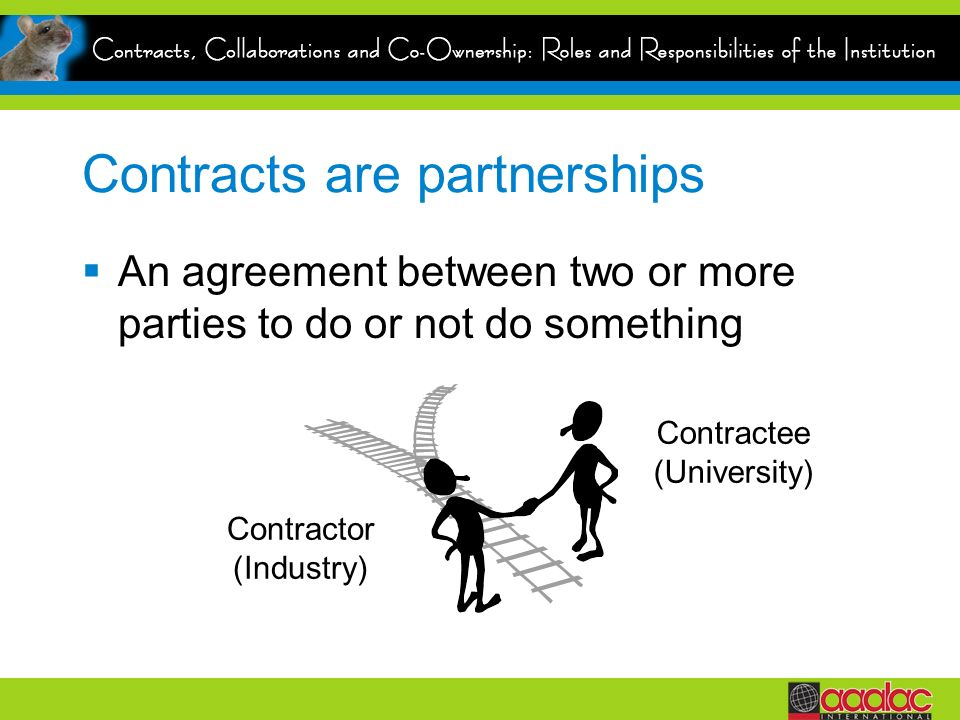 Contracts are partnerships