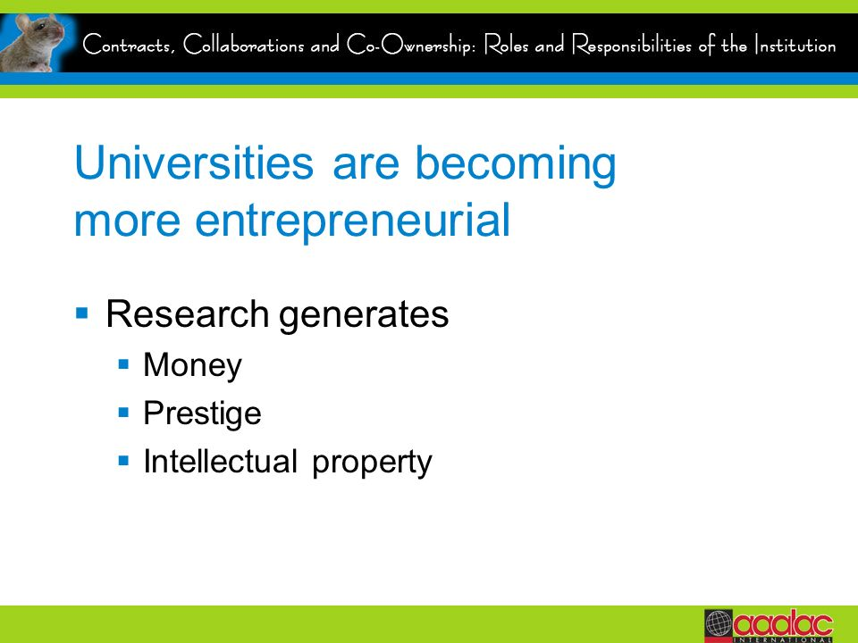 Universities are becoming more entrepreneurial