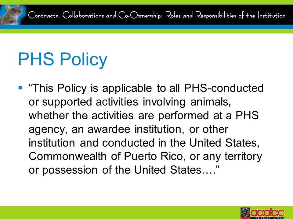 PHS Policy