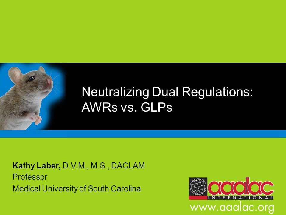 Neutralizing Dual Regulations: AWRs vs. GLPs