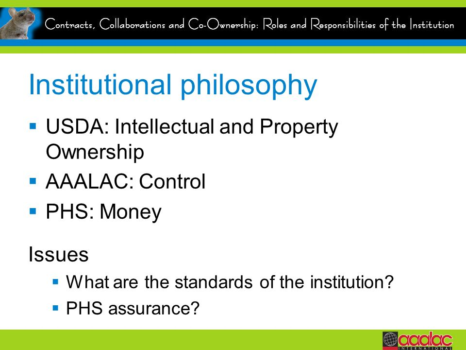 Institutional philosophy