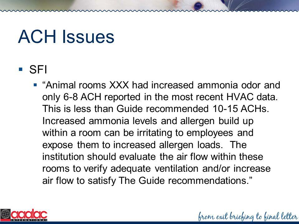 ACH Issues SFI.