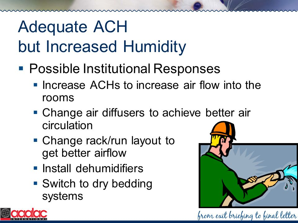 Adequate ACH but Increased Humidity