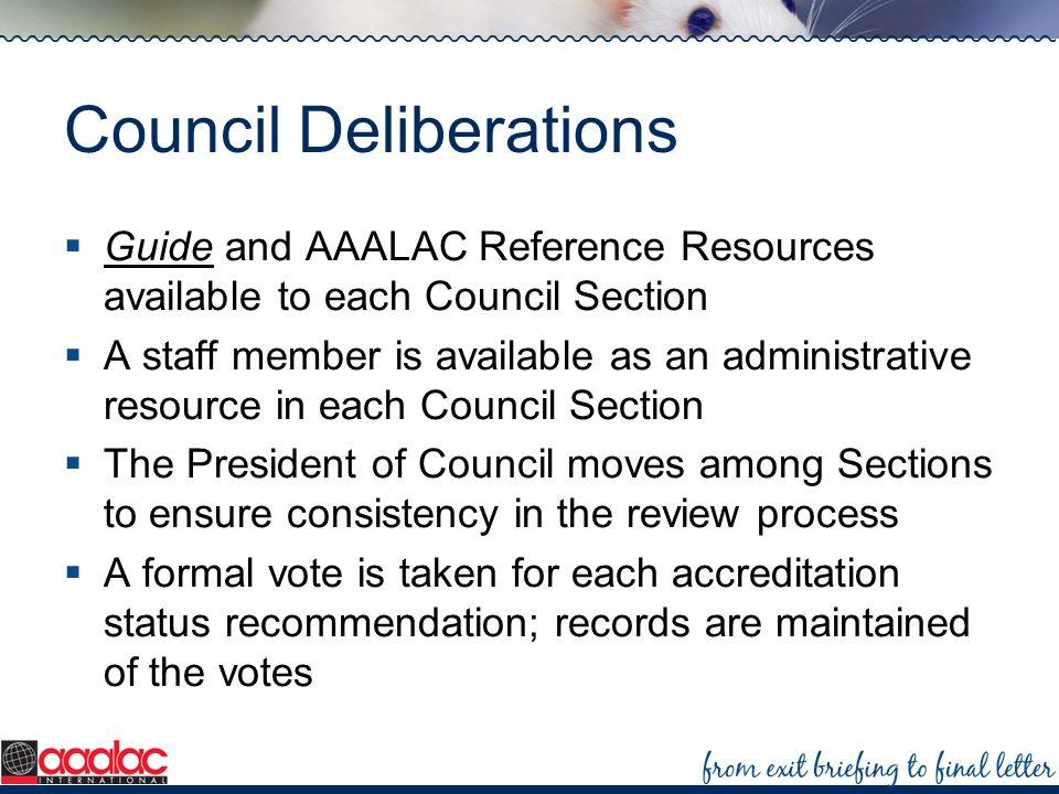 Council Deliberations
