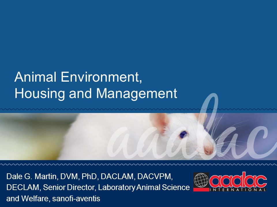 Animal Environment, Housing and Management