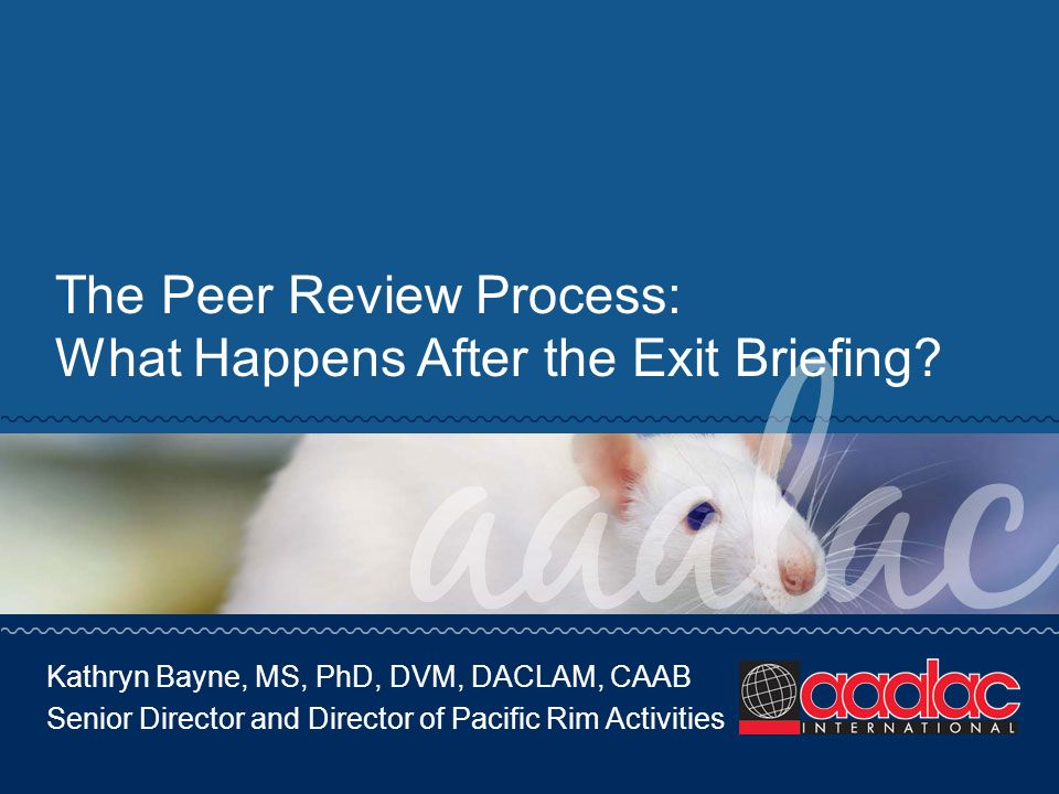 The Peer Review Process: What Happens After the Exit Briefing