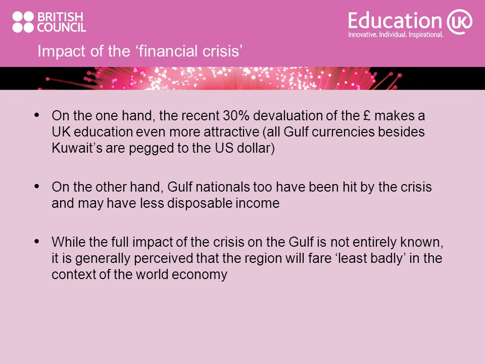Impact of the 'financial crisis'