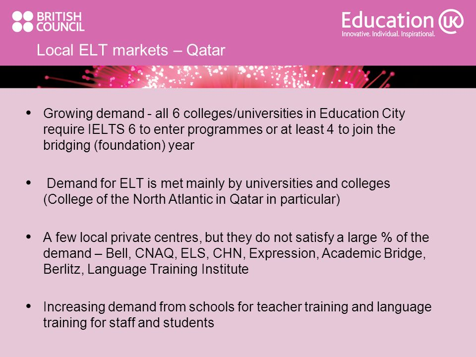 Local ELT markets – Qatar