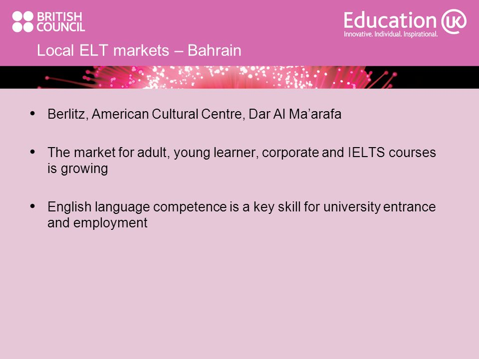 Local ELT markets – Bahrain