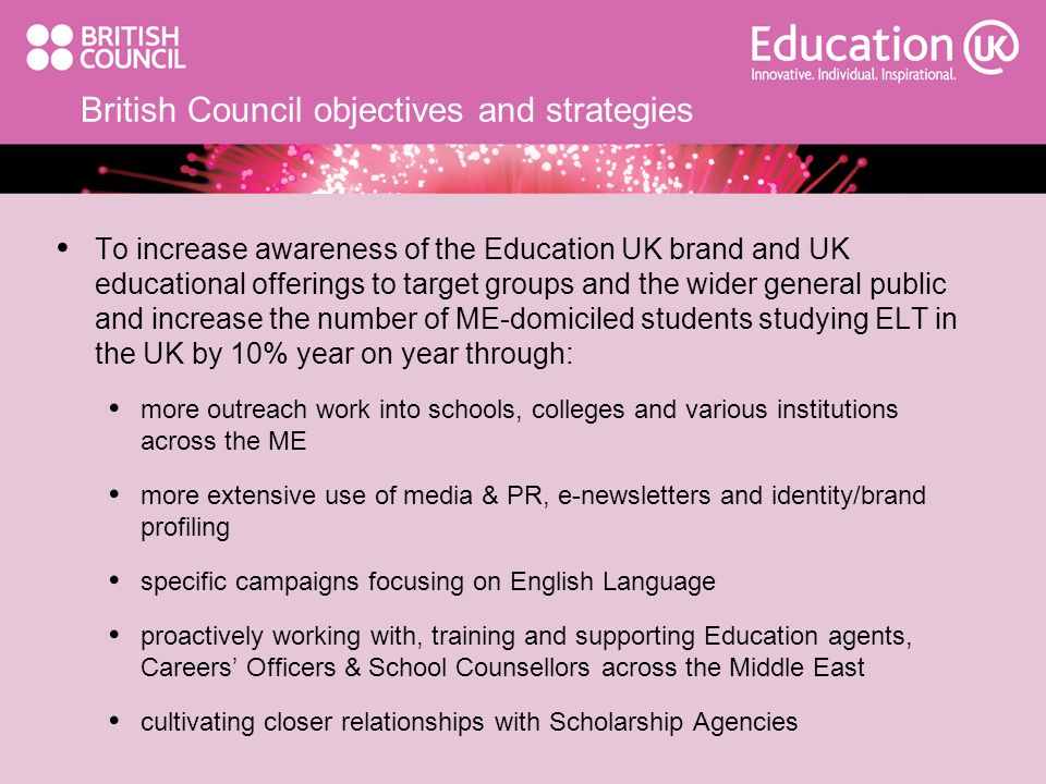 British Council objectives and strategies