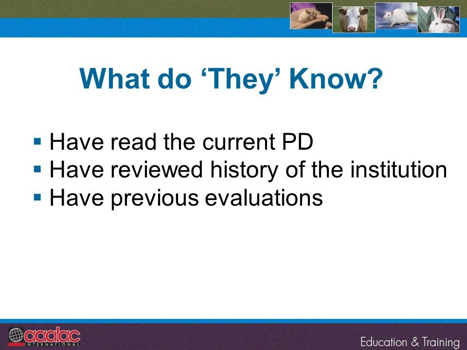 What do 'They' Know Have read the current PD