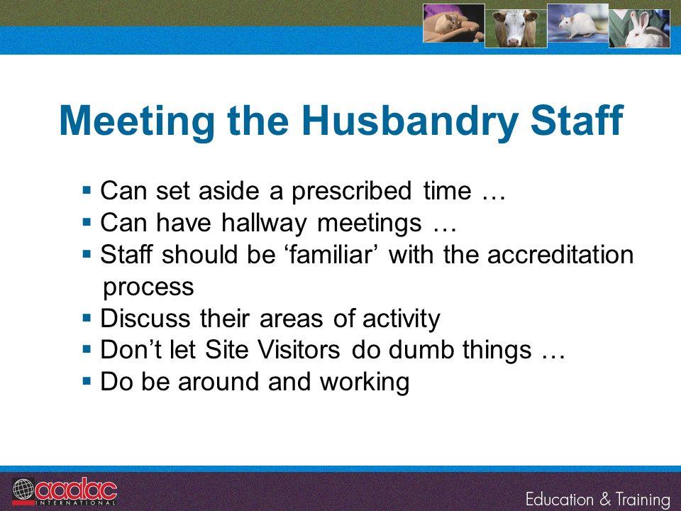 Meeting the Husbandry Staff