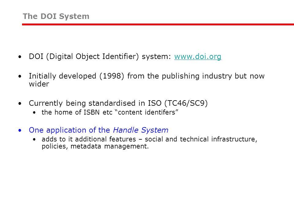 DOI (Digital Object Identifier) system: www.doi.org