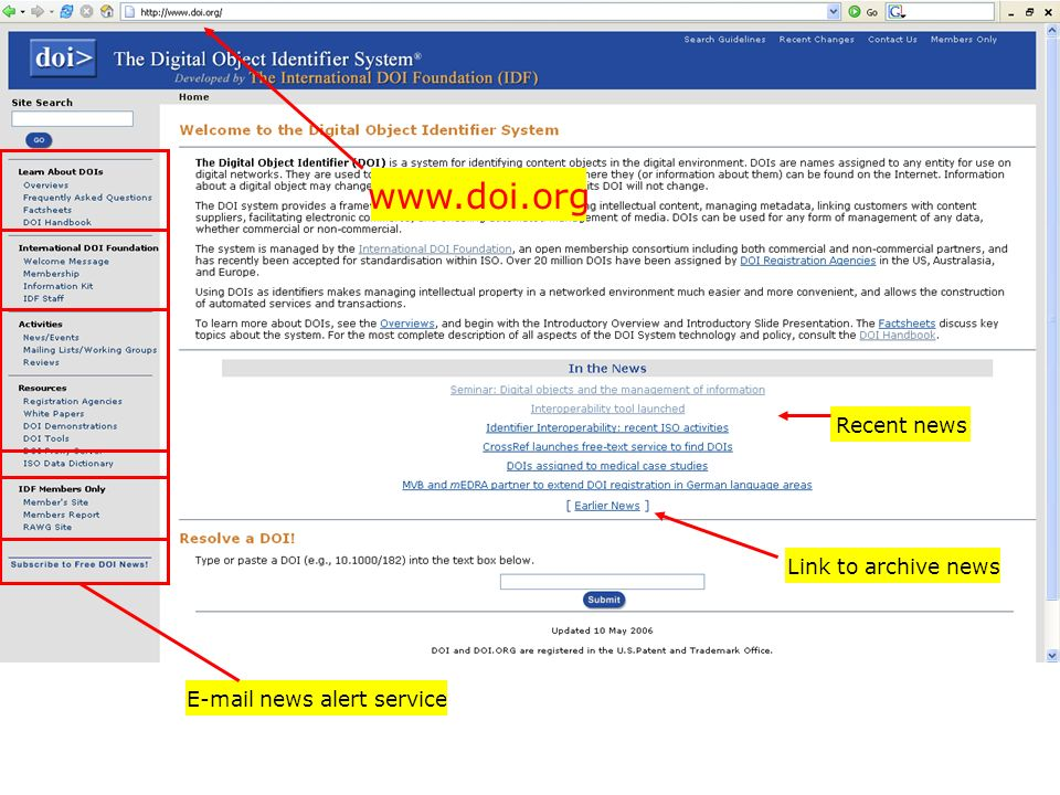 E-mail news alert service