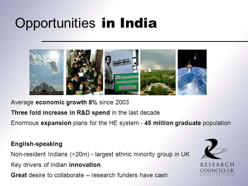 Opportunities in India