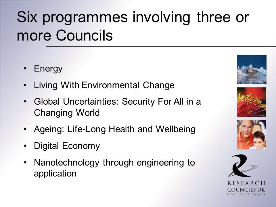Six programmes involving three or more Councils