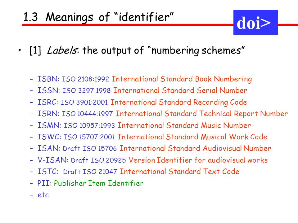 doi> doi> 1.3 Meanings of identifier