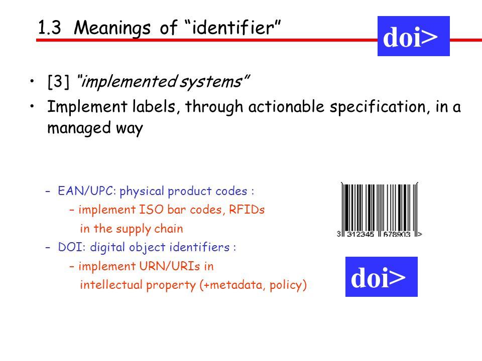 doi> doi> doi> 1.3 Meanings of identifier