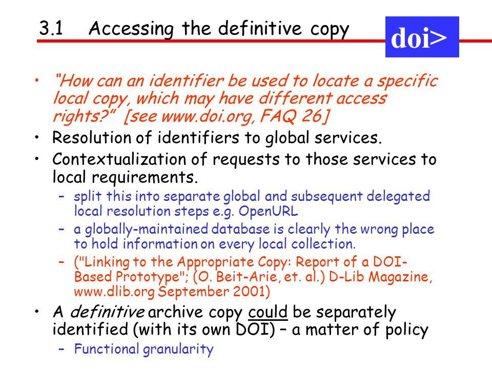 doi> doi> doi> 3.1 Accessing the definitive copy
