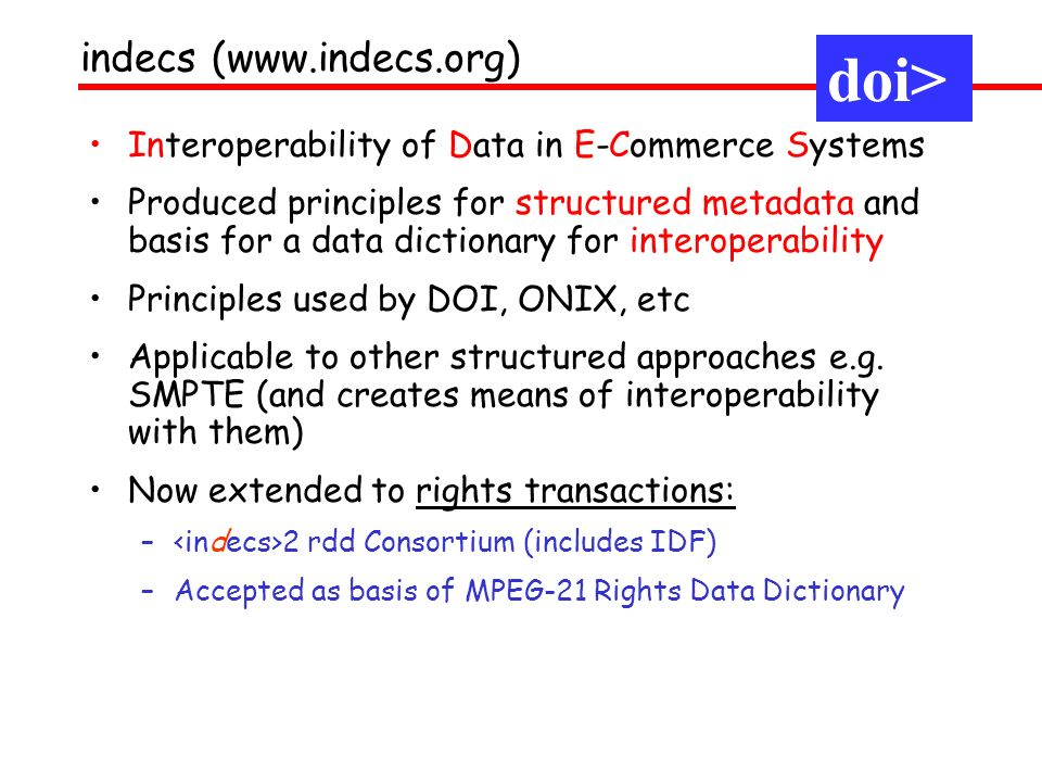 doi> indecs (www.indecs.org)
