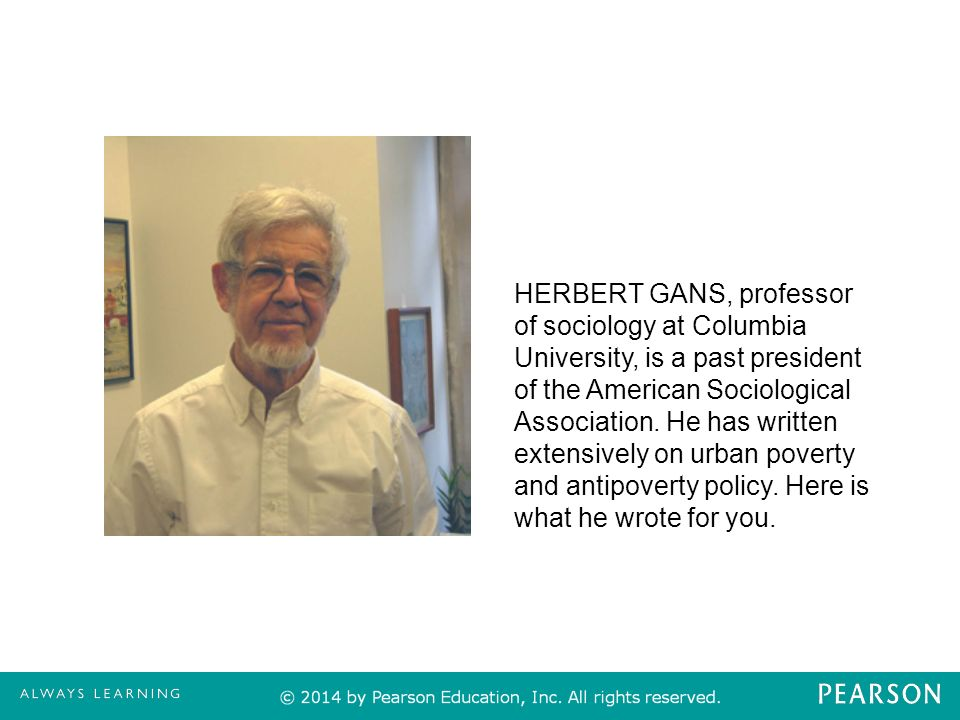social problems a down to earth guide e james m henslin ppt herbert gans professor of sociology at columbia university is a past president of the
