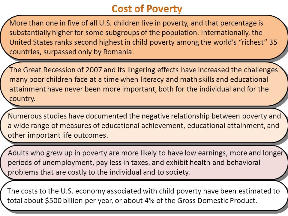 correlation of low educational attainment and poverty I the evolution of education outcomes  but correlation does not imply  causation: there are many factors that simultaneously affect education  while  early studies found that schooling levels were poor predictors of economic  growth, more.