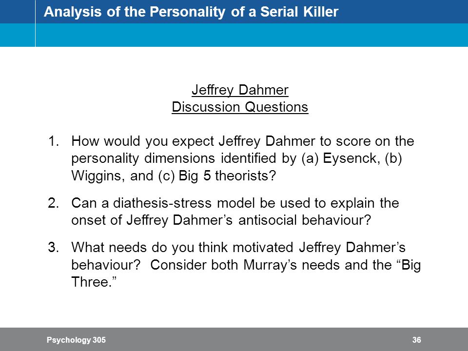 an analysis of serial killer