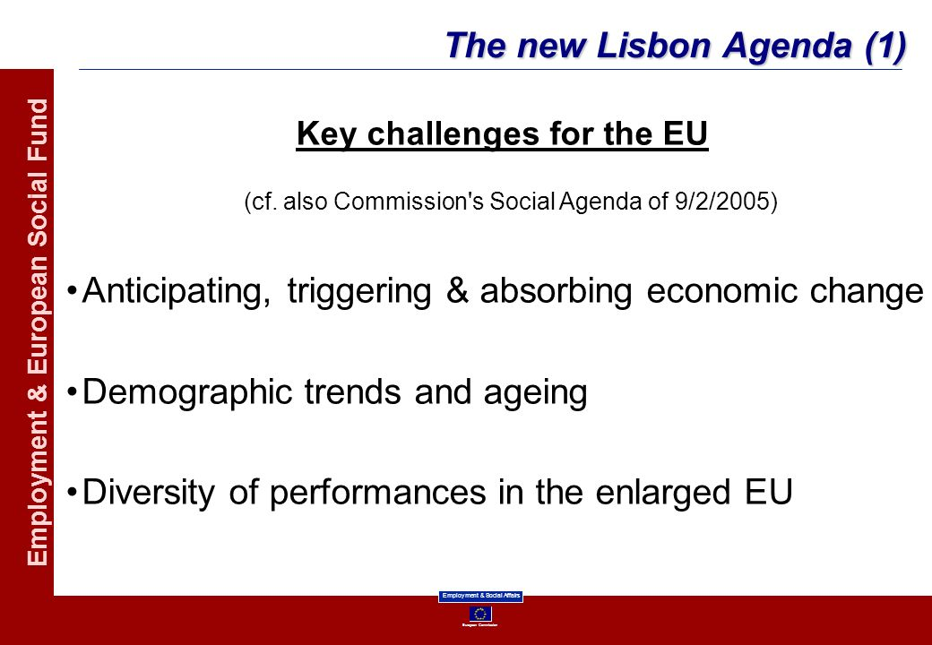 Key challenges for the EU