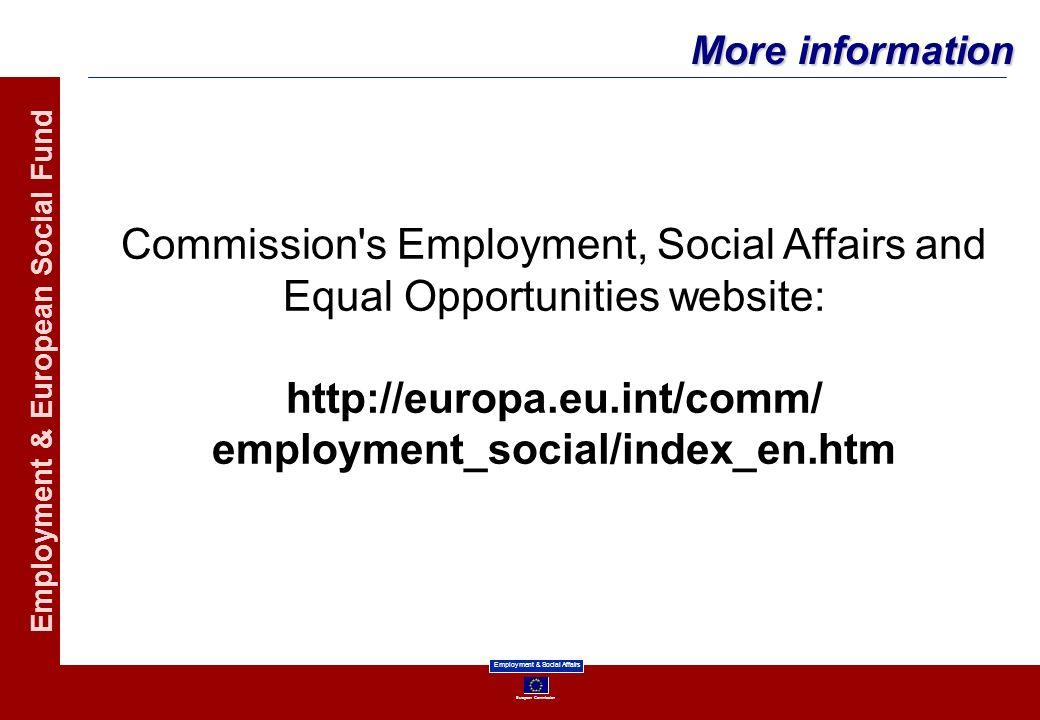 http://europa.eu.int/comm/ employment_social/index_en.htm