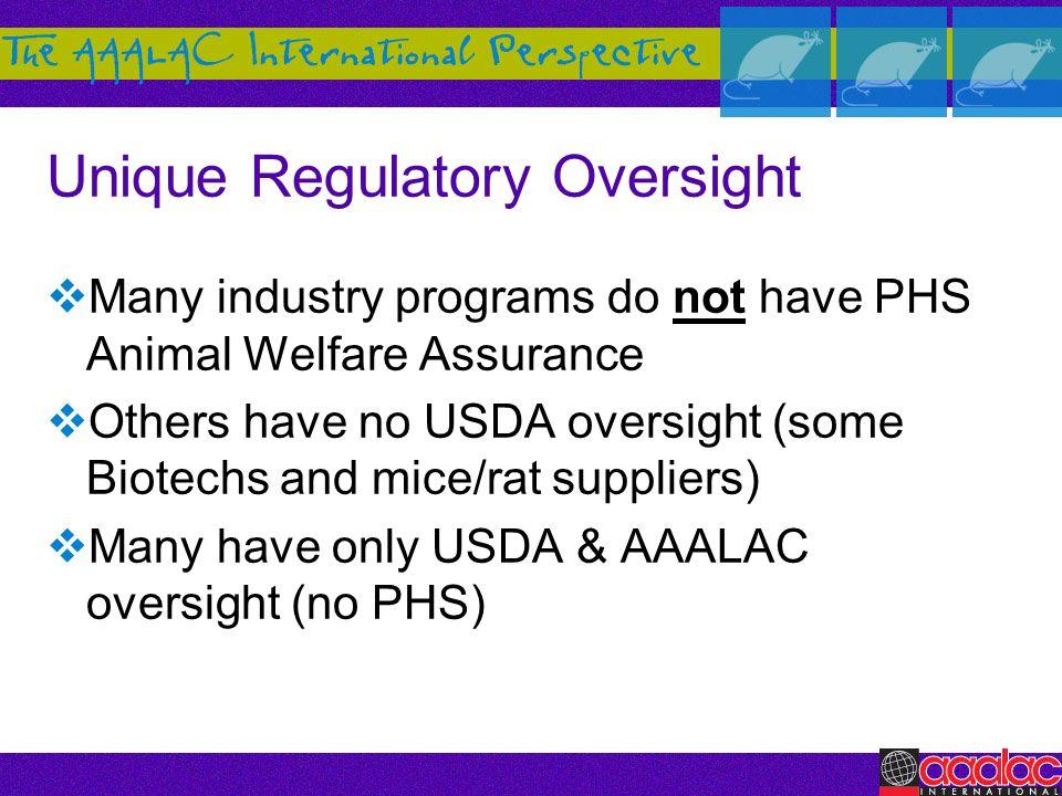 Unique Regulatory Oversight