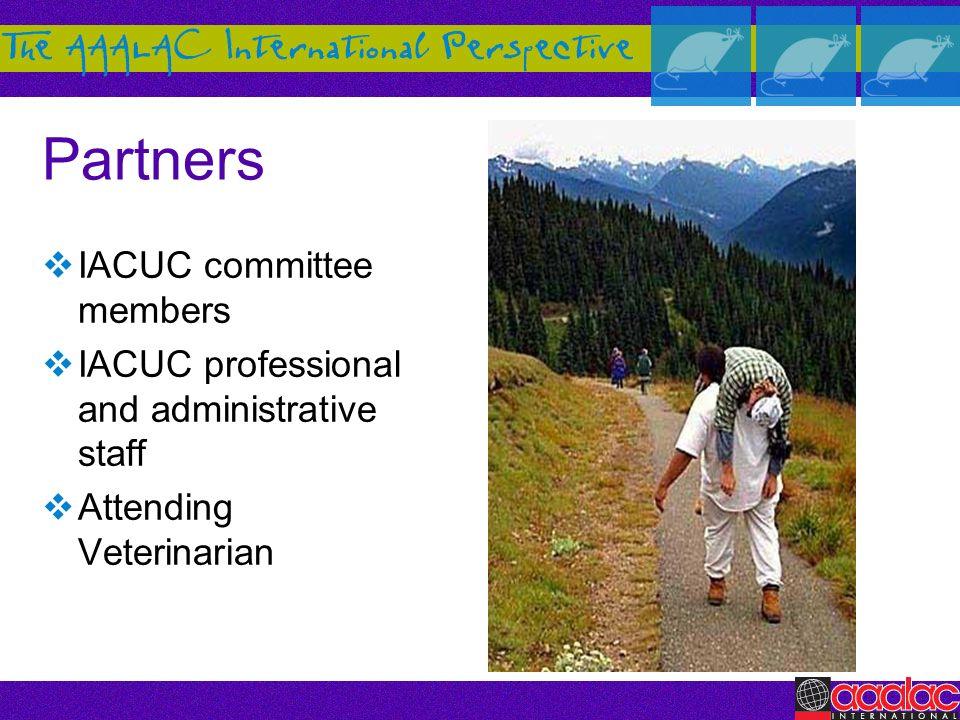 Partners IACUC committee members