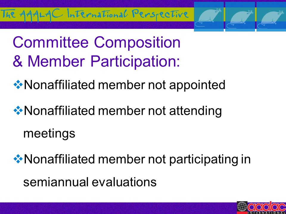 Committee Composition & Member Participation: