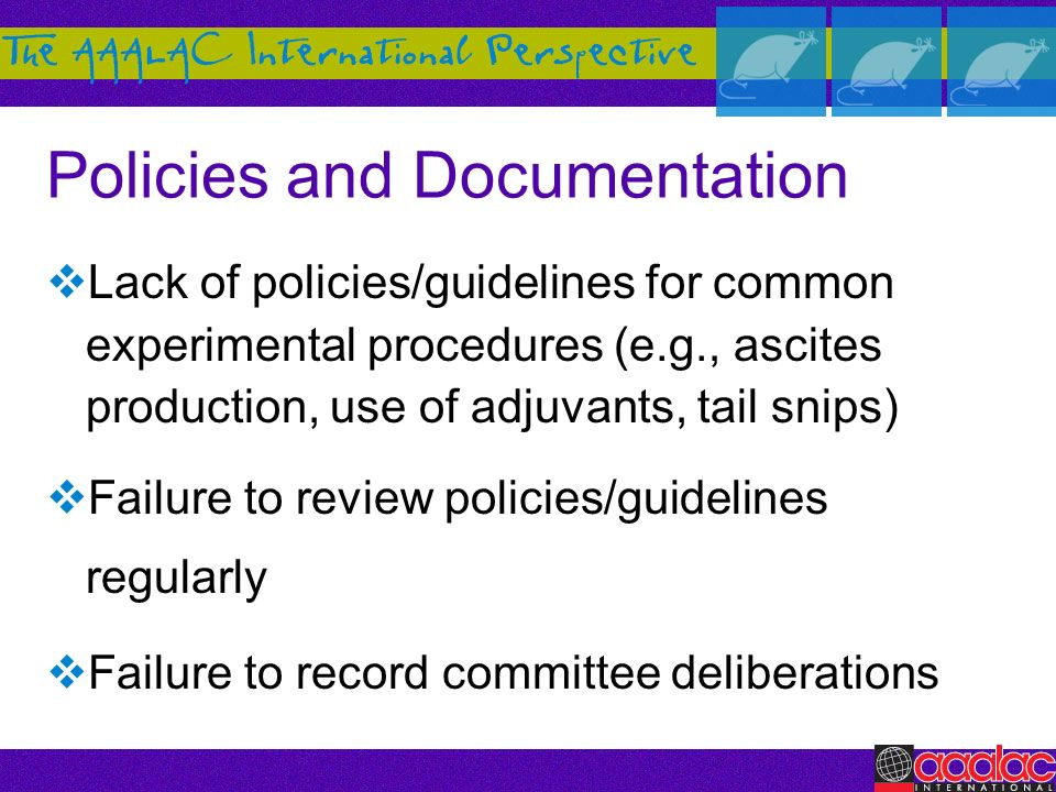 Policies and Documentation