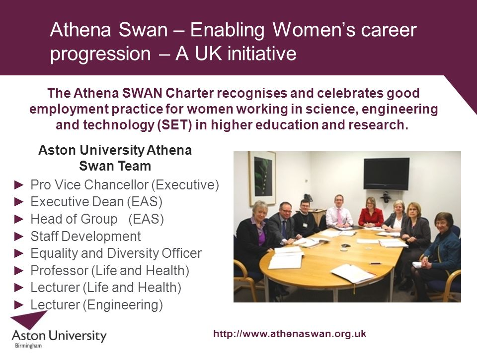 Athena Swan – Enabling Women's career progression – A UK initiative