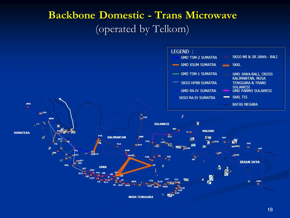 Backbone Domestic - Trans Microwave (operated by Telkom)